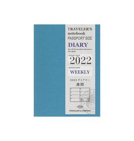 Traveler's Company [preorder] Traveler's Notebook 2022 Refill Passport Weekly