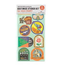 Traveler's Company Traveler's Notebook 2022 Customized Sticker Set