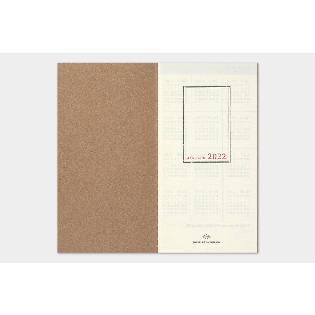 Traveler's Company Traveler's Notebook 2022 Refill Weekly + Memo