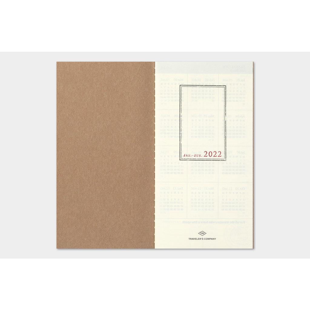 Traveler's Company Traveler's Notebook 2022 Refill Weekly Vertical
