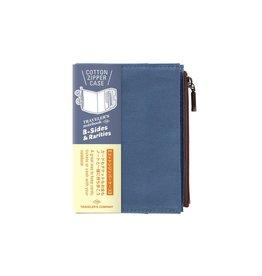 Traveler's Company Cotton Zipper Case Blue Passport B-Side
