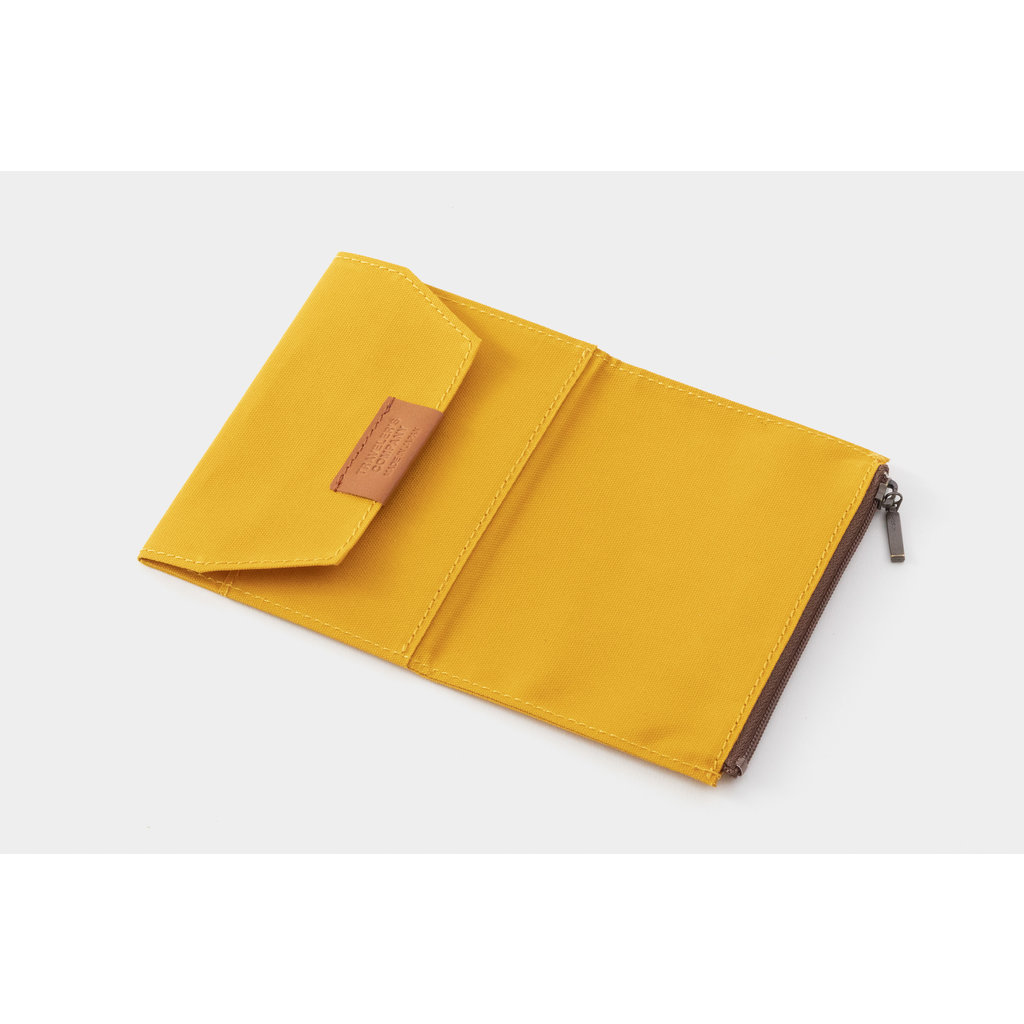 Traveler's Company Cotton Zipper Case Mustard Passport B-Side
