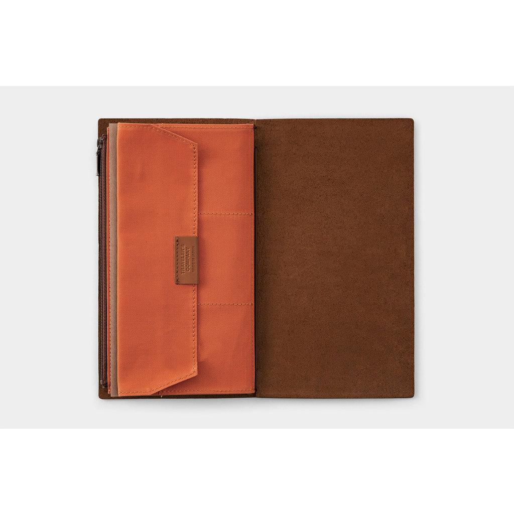 Traveler's Company Cotton Zipper Case Orange B-Side