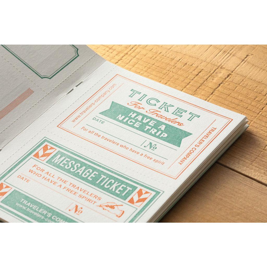 Traveler's Company Refill Message Card Passport B-Side