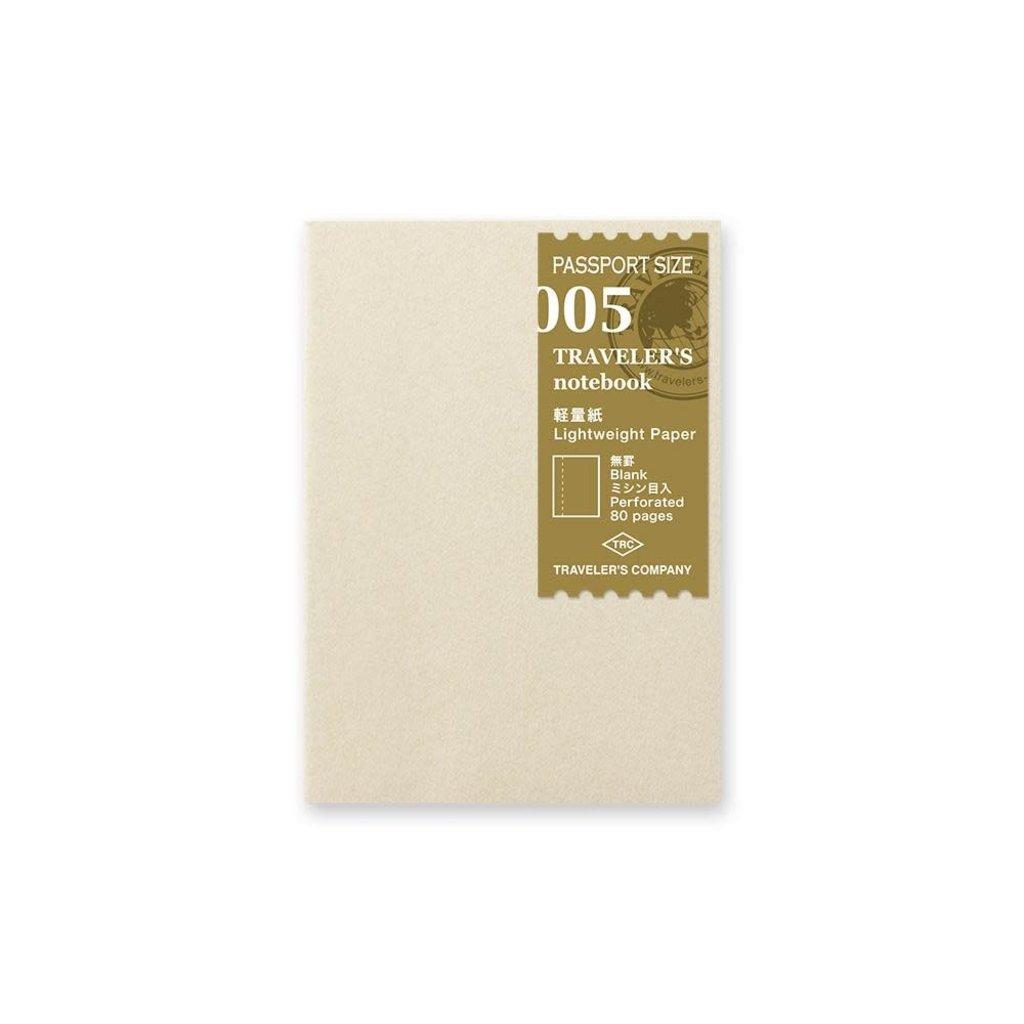 Traveler's Company traveler's company - lightweight paper refill - passport 005