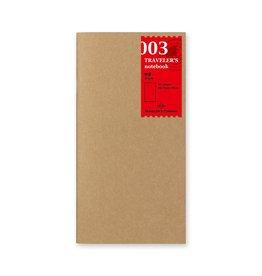 Traveler's Company Refill Blank Paper 003
