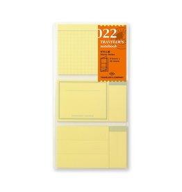 Traveler's Company Refill Sticky Memo Pad 022