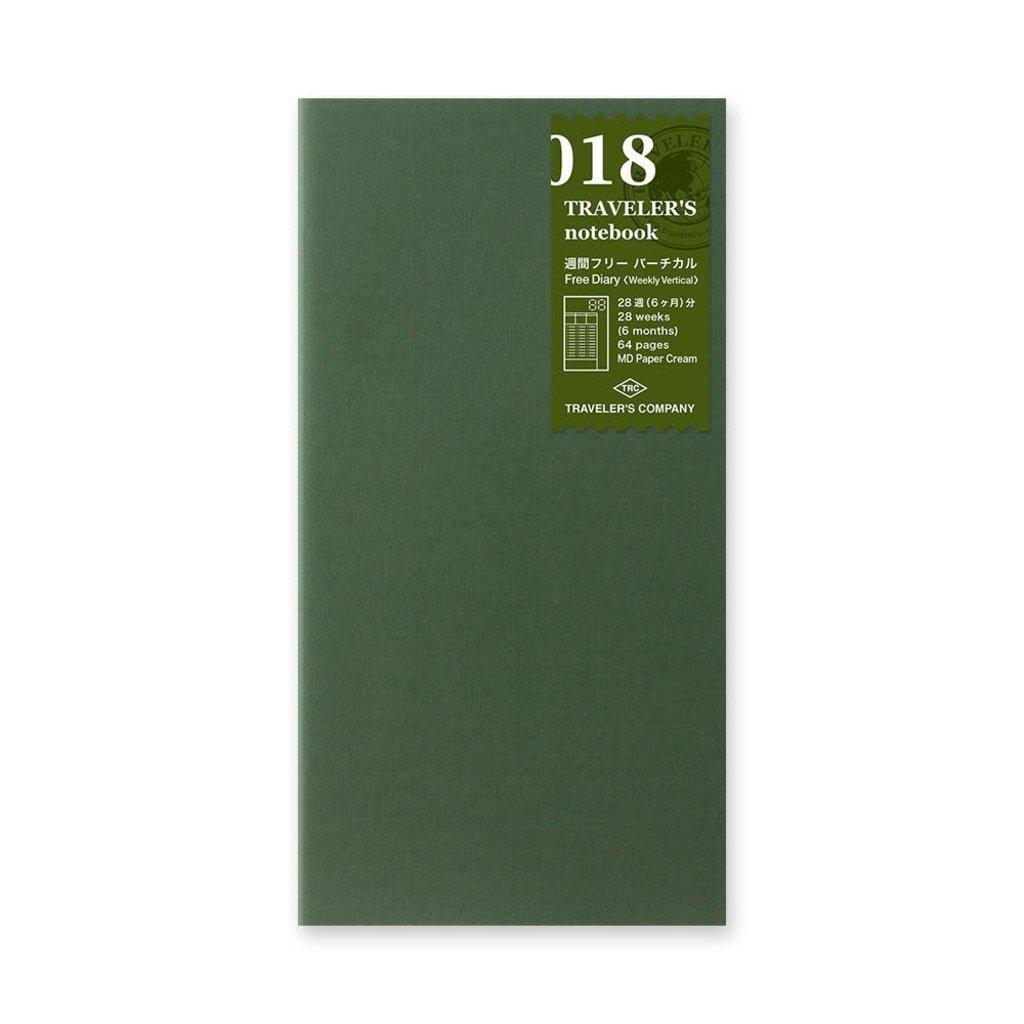 Traveler's Company traveler's company - free diary (weekly vertical) refill - 018