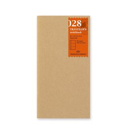 Traveler's Company Refill Card File Kraft 028