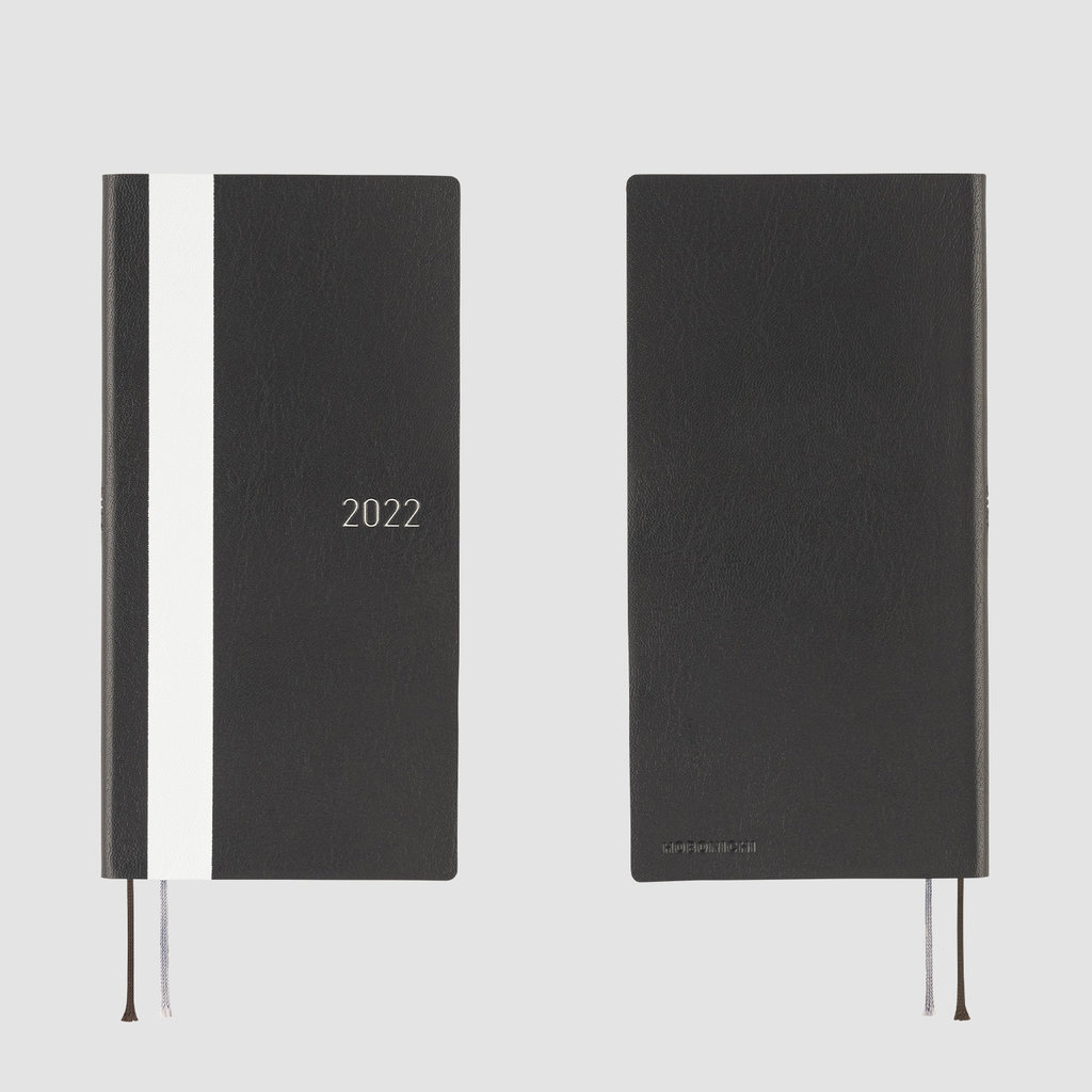 Hobonichi Hobonichi Techo 2022 Weeks White Line: Black