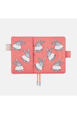 Hobonichi Hobonichi Techo 2022 A6 Candy Stripper: Sweet Bunny Pink