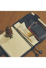 Hobonichi Hobonichi Techo 2022 A6 mina perhonen: tambourine (Navy)