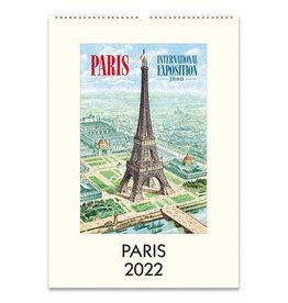 cavallini 2022 Paris Wall Calendar