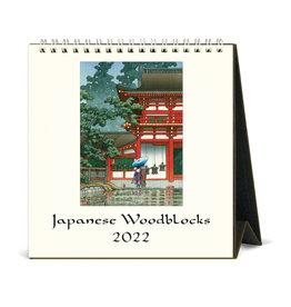 cavallini 2022 Desk Calendar Japanese Woodblock