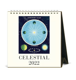 cavallini 2022 Desk Calendar Celestial
