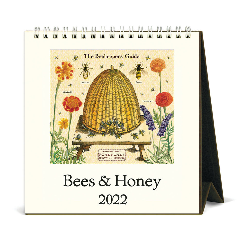 cavallini 2022 Desk Calendar Bees & Honey
