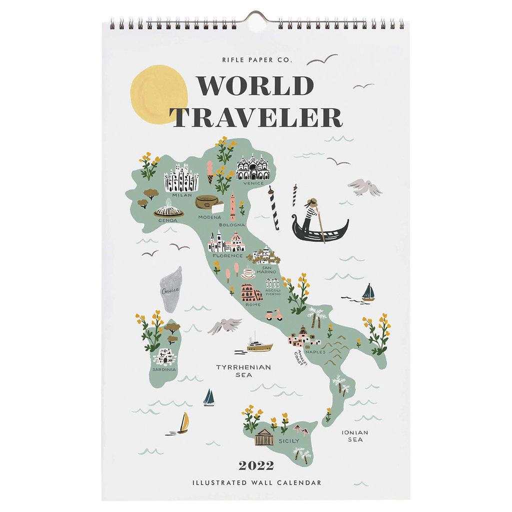Rifle Paper 2022 World Traveler Wall Calendar