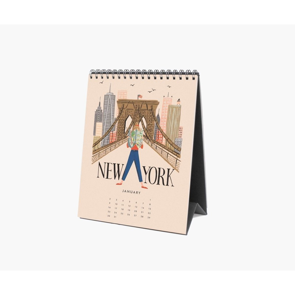 Rifle Paper 2022 Explore The World Desk Calendar