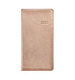"""Graphic Image 2022 6"""" Pocket Datebook Metallic Rose Gold"""