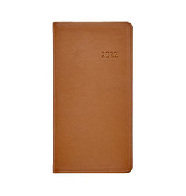 "Graphic Image 2022 6"" Pocket Datebook Traditional British Tan"