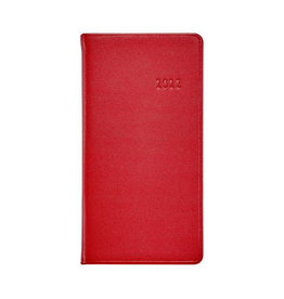 """Graphic Image 2022 6"""" Pocket Datebook Traditional Red"""