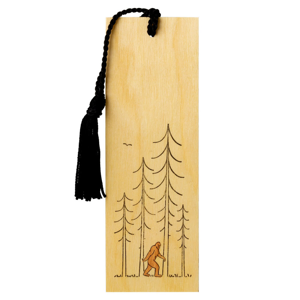 Green Bird Press Minimal Adventure Letterpress Bookmark - Sasquatch