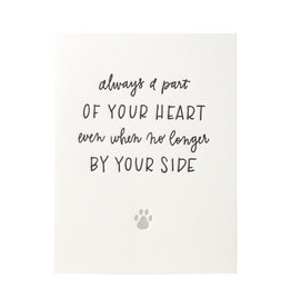 Ink Meets Paper Pet Sympathy By Your Side Letterpress Card