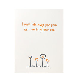 Ink Meets Paper By Your Side Flowers Letterpress Card
