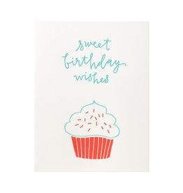 Ink Meets Paper Birthday Cupcake Letterpress Card
