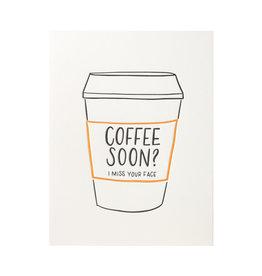 Ink Meets Paper Coffee Soon? Letterpress Card