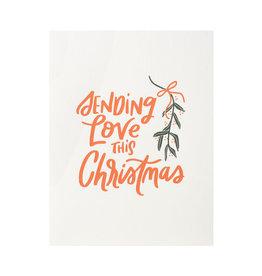 Dahlia Press Sending Love This Christmas Letterpress Cards Box of 6