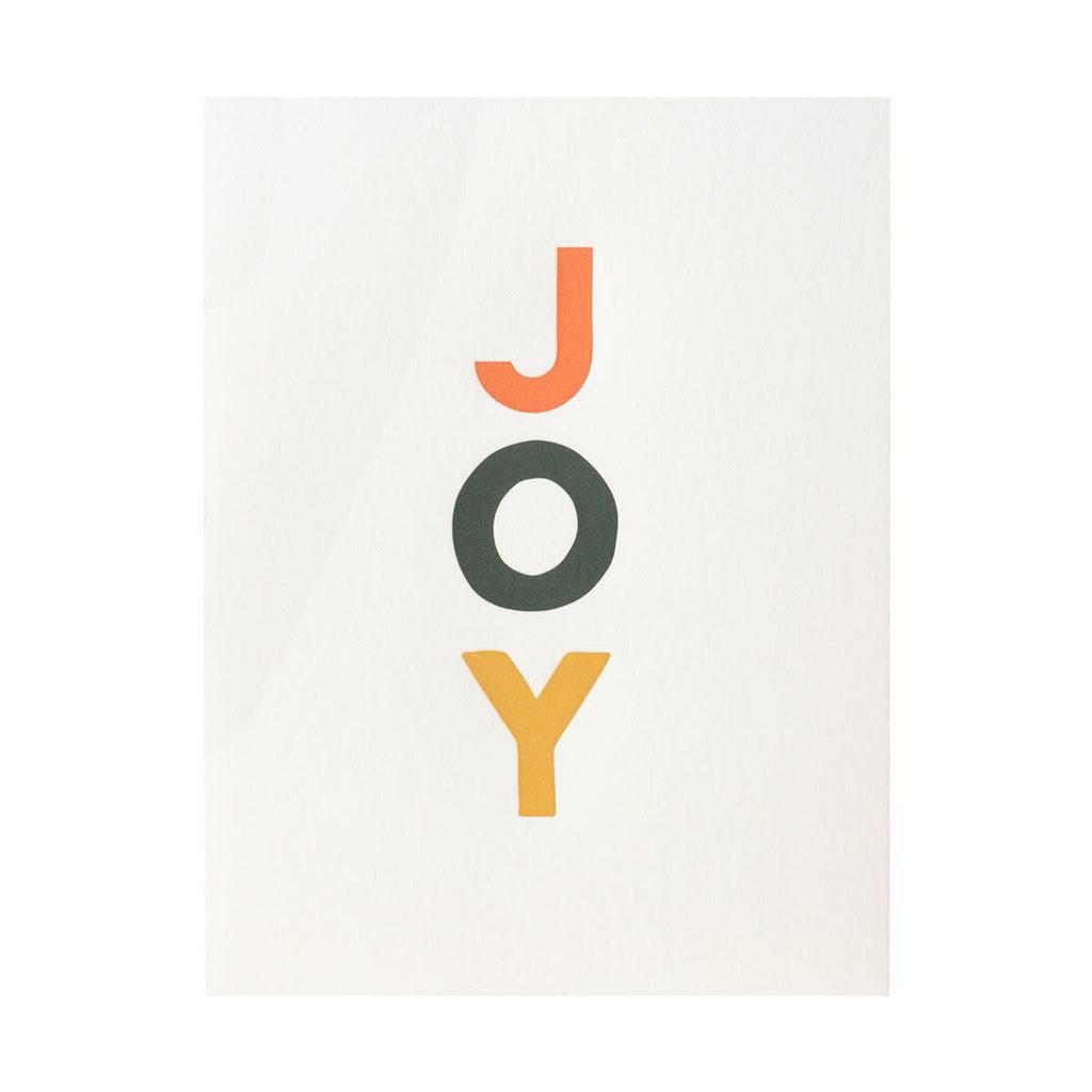 Dahlia Press JOY Letterpress Cards Box of 6