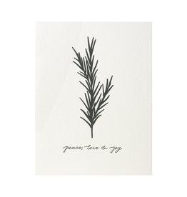 Dahlia Press Peace, Love, & Joy Letterpress Cards Box of 6