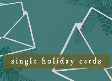 Single Holiday Cards