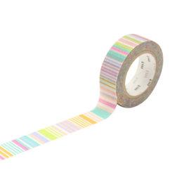 mt Multi-Border Pastel Washi Tape