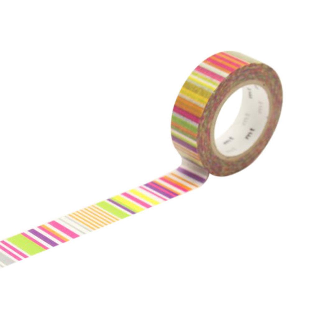 mt Multi-Border Vivid Washi Tape