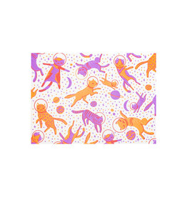 Hello! Lucky Cosmic Cats Mixed Letterpress Cards Box of 6