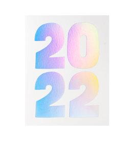 Ashkahn 2022 Holo Letterpress Card