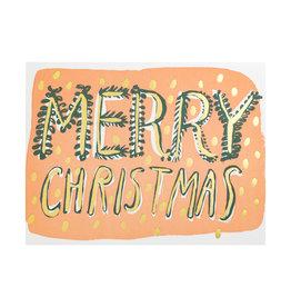 Egg Press Big Christmas Type Letterpress Card