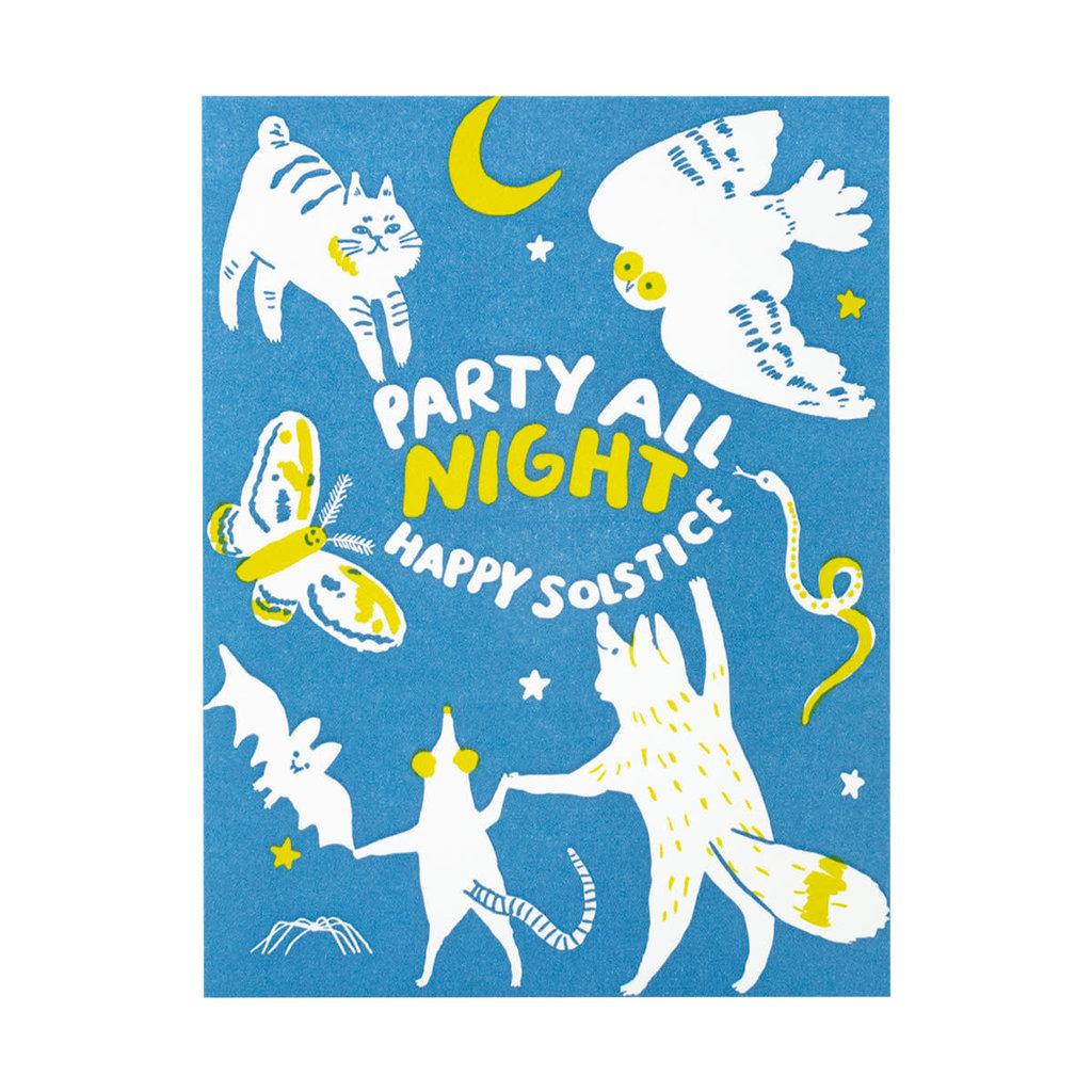 Egg Press Solstice Party Letterpress Card