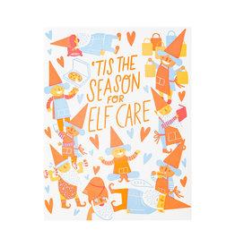 Hello! Lucky Elf Care Letterpress Card
