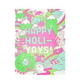 Hello! Lucky Happy Holiyays Letterpress Card