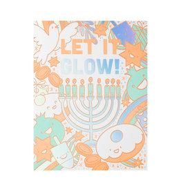 Hello! Lucky Let It Glow Letterpress Card