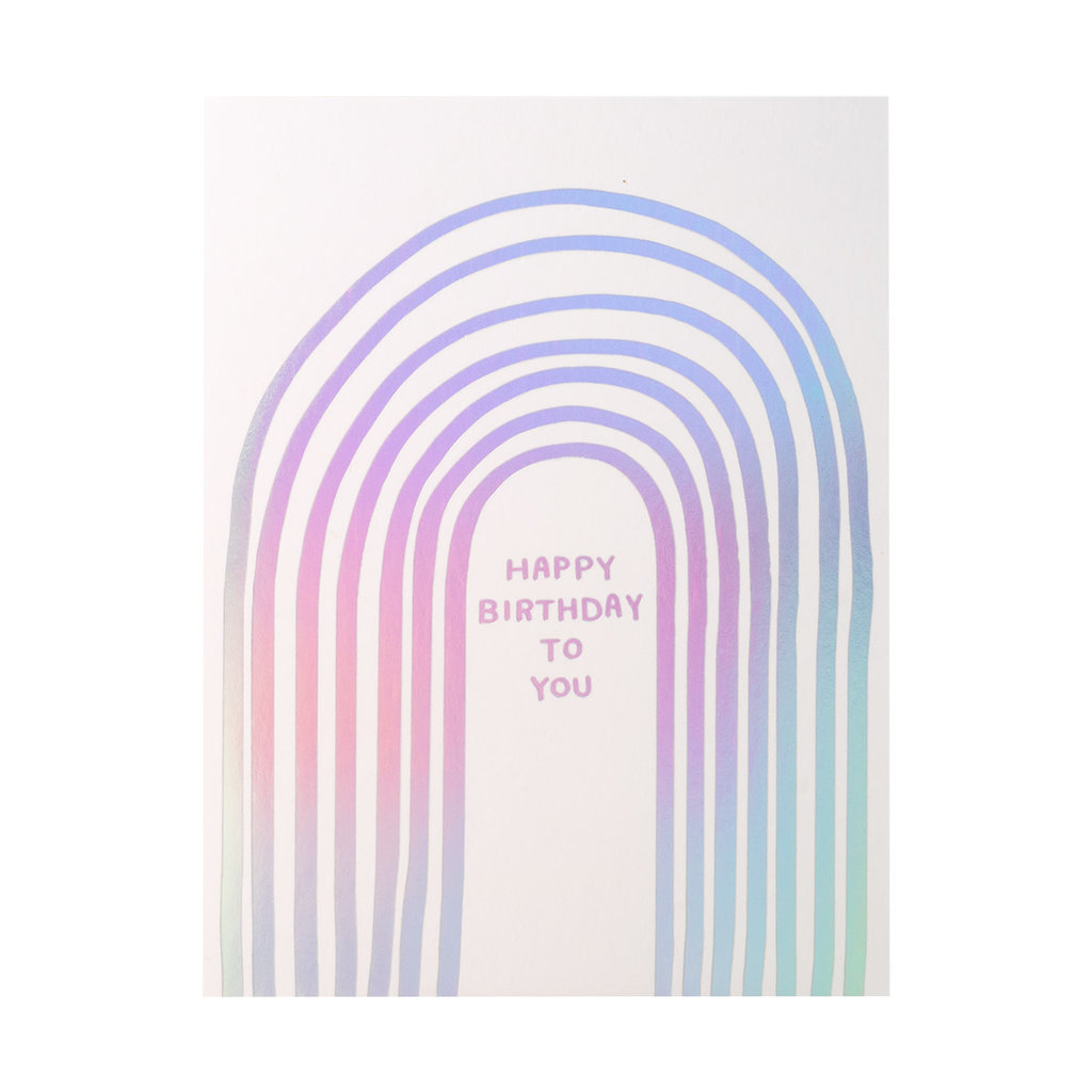 Ashkahn Rainbow Birthday To You Letterpress Card