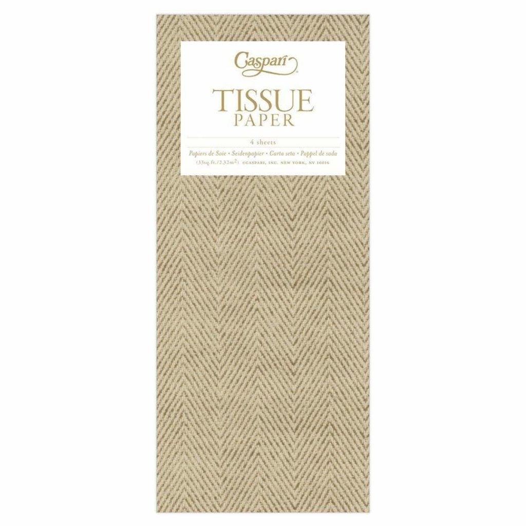 Caspari Jute Natural Tissue Pkg 4 Sheets