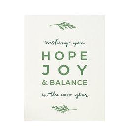 Lake Erie Design Co. Wishing you Hope Letterpress Card