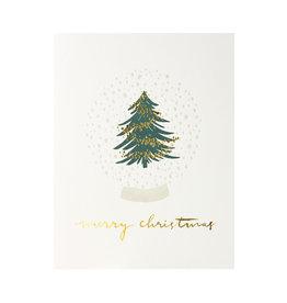 Lake Erie Design Co. Merry Christmas Snow Globe Letterpress Card
