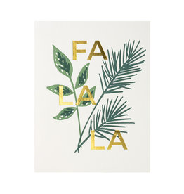 Lake Erie Design Co. Fa La La Letterpress Card