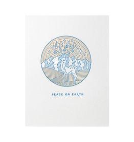 Lickety Split Press Peace On Earth Deer Letterpress Cards Box of 4