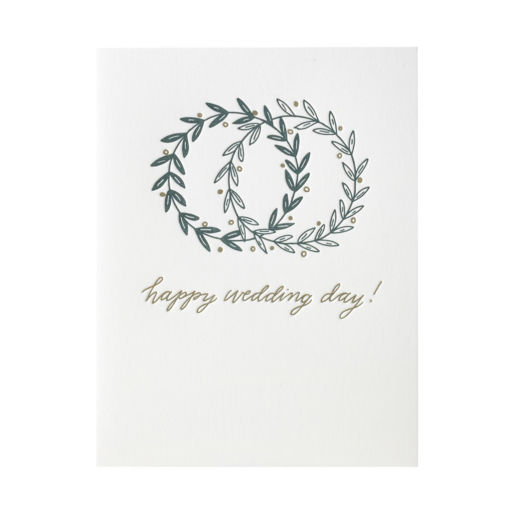 Ink Meets Paper Happy Wedding Day Letterpress Card